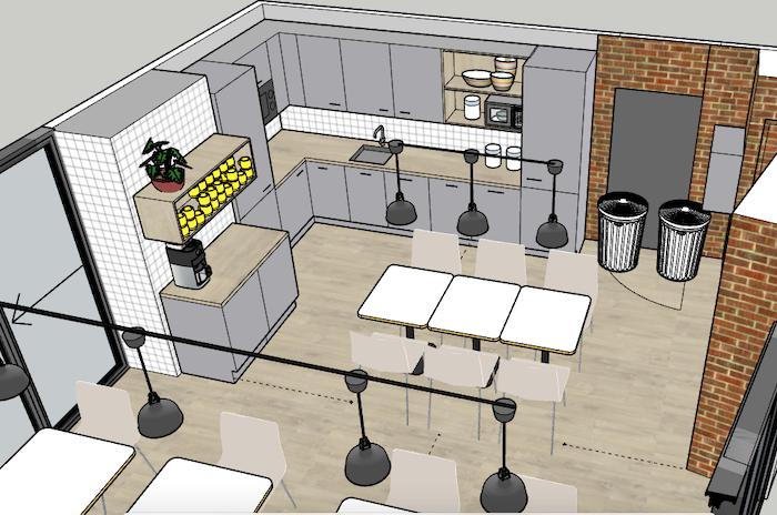 Työn alla mm. toimistokohde & kahvilatila